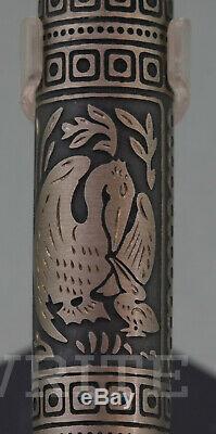 New! Fountain Pen Pelikan Toledo Sterling Silver M 910 Nib F Complete Box