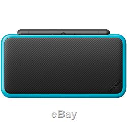 New Nintendo 2DS XL (Black + Turquoise) with its stylus pen in original box
