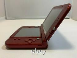 Nintendo New 3DS LL XL Console Metallic Red withbox Stylus Pen Charger NTSC-J