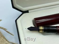 OMAS AMERIGO VESPUCCI Fountain Pen Briarwood 18K BROAD Flex nib Near mint Box