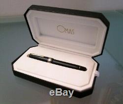 OMAS Milord fountain pen black whit box. Nib 585 extra