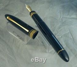 Omas 360 Magnum Fountain Pen, Jet Black, Gt, 18k M Nib, Oversize, Box Exc+