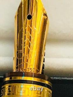 Omas Arte Italian Paragon 18k Gold Nib Fountaun Pen Brand New In Box With Paper