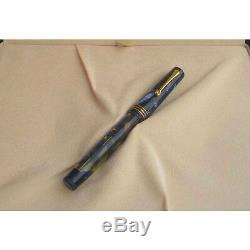 Omas Lucens Blue Fountain Pen x Fine Pt 18 KT Gold X Fine Pt New In Box 062/500
