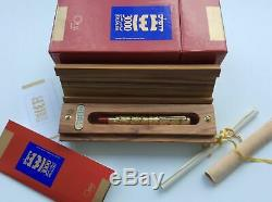 Omas Solid Gold Jerusalem 3000 Limited Edition Fountain Pen New In Box 354/500