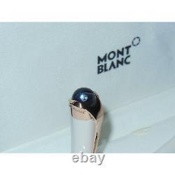 Open Box Montblanc Etoile Sand Diamond Fountain Pen Red Gold 18K Nib F 113837