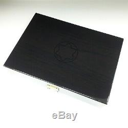 Original Luxury Montblanc Wood Lacquer Display Box for 20 Pens with Key Rare New