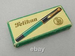 PELIKAN 400 Fountain Pen Gold EF 14k Flex Nib Vintage in Box and Paper Rare