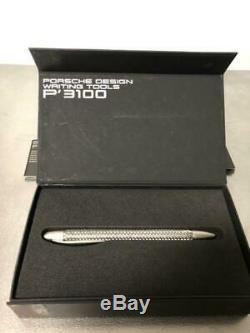 PORSCHE DESIGN Ballpoint Pen P3100 Silver Unused withBox