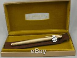 Parker 75 18kt Gold Filled Rainbow Fountain Pen in Box 1970's Mint, Unused