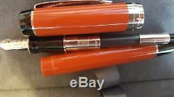 Parker Duofold Centennial Fountain Pen Big Red Palladium F Nib New in Box