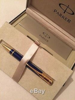 Parker Duofold Lapis Lazuli Historical Gt Ballpoint Pen-france-gift Box-new