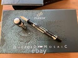 Parker Duofold Mosaic Black PT Centennial Fountain pen Unused and Boxed M