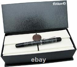 Pelikan Fountain Pen Special Edition Lizard M101 18k Gold M Pt New In Box 919100