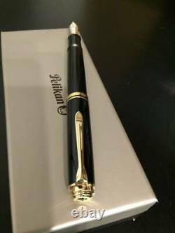 Pelikan Fountain pen SOUVERAN M1000 Black 18k nib F withbox
