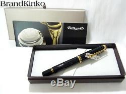 Pelikan Fountain pen SOUVERAN M1000 Black 18k nib F withbox New