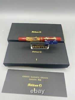 Pelikan GS M101N Fountain Pen Tortoise Shell RED 14K Fine Nib NEW Boxed