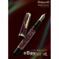 Pelikan Raden Sunrise Souveran M1000 Limited 333 Fountain Pen Box and Papers