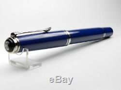 Pelikan Souverän M605 Fountain Pen-Solid Blue-14K B Nib-Box & Papers-2000s