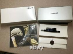 Pelikan Souveran M805 Black Fountain Pen 18K EF Nib with Box (Very Lightly Used)