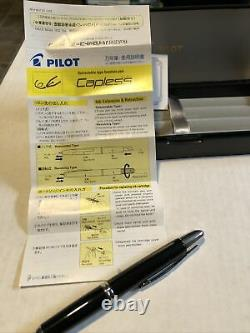Pilot Capless Retractable Fountain Pen. Black And Silver. Original Box