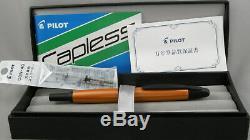 Pilot Capless Vanishing Point Desert Orange Fountain Pen -Mint In Box 18kt Nib
