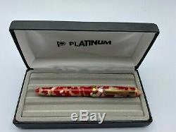 Platinum 3776 Celluloid Fountain Pen GOLDFISH with 14K MUSIC Nib MInt Boxed