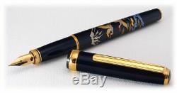 Platinum Classic Maki-e Crane Medium Point Fountain Pen NEW in original box