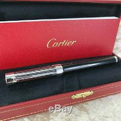 RARE Authentic Cartier Fountain Pen Pasha Barcode 18k Gold Nib withBox&Paper(MINT)