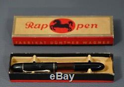Rare German Rappen Fountain Pen Gunter Wagner Pelikan EF 14 Gold Nib w Box