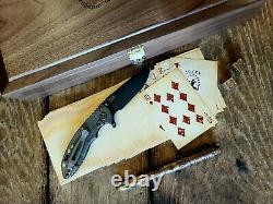 Rare Hinderer XM-18 3 Card Series Vintage Walnut Box Pen Card Dice Copper