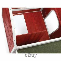 Red Barn Wood Chicken Coop with Nest Box Side Access Door for 4-6 Hens