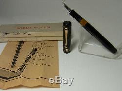 Restored 1940´s SOENNECKEN 507 pistonfiller fountain pen flexy OM nib & box