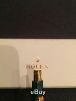 Rolex Pen Green Ballpoint in Original Box With Logo crown NEW
