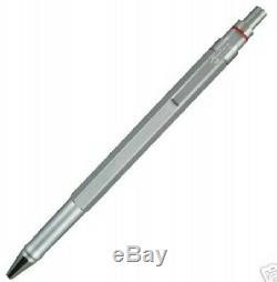 Rotring 600 Silver Hexagonal Ballpoint Pen New In Original Box 46579