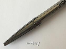 S. T. Dupont Defi Ball Point Pen, Titanium and Gun Metal, 405705, New In Box