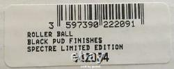 S. T. Dupont James Bond Spectre 007 Black PVD Roller Ball Pen, 142034, New In Box