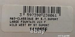 S. T. Dupont L. E Wild West Convertible Fountain Pen & Pen Case 141065 New In Box