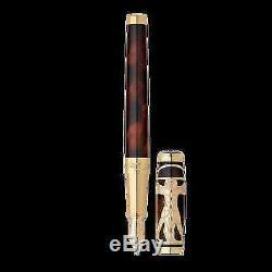 S. T. Dupont Ligne D Vitruvian Man Fountain Pen, 410037 (0410037) New In Box