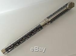 S. T. Dupont White Knight Large Fountain Pen, Premium Edition # 141030 New In Box