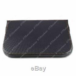 Seat Gap Seam Storage Box Organizer Drink Holder Mount Carbon Fiber Leather