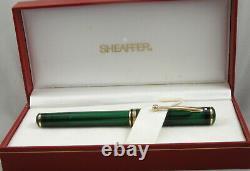 Sheaffer Levenger Connaisseur Aegean Green Fountain Pen In Box 14kt Nib USA
