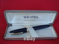 Sheaffer's Pfm 3 Snorkel Made In Australia & S Box Jetblackbody Gold F Nib