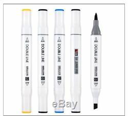 Soft Brush Sketch Markers Pen Permanent Alcohol Based Ink Art Marker Box Set New