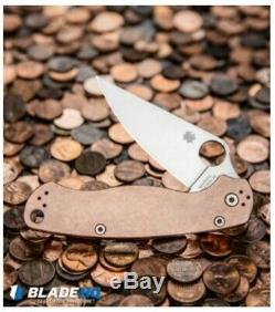 Spyderco COPPER Paramilitary 2 Knife (3.44 REX 45 steel) C81CUP2 UNOPENED BOX