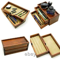 Toyooka Wooden Fountain Pen Storage Box Collection Case 8 pens NEW withTracking