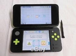 U1996 new Nintendo 2DS LL XL console Black x Lime Japan withbox memory pen