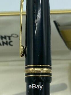 Vintage MONTBLANC 149 Fountain Pen Diplomat 14K Fine nib Boxed