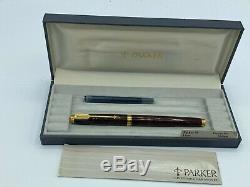 Vintage Parker 75 THUYA Lacquer Fountain Pen 18K Med nib boxed