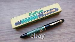 Vintage RARE UNUSED 1950s Pelikan 140 Flex F 14C-585 Gold Nib Fountain Pen Boxed